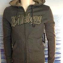 Billabong Mens New Small S Hoodie Hoody Logo Olive Green Zipper Sweater 8bre Photo