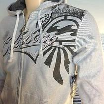 Billabong Mens New Small S Hoodie Hoody Logo White Gray Zipper Sweater Arem Photo