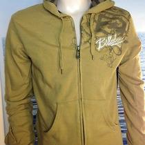 Billabong Mens New Small S Hoodie Hoody Mustard Yellow Logo  Zipper Sweater 8dev Photo