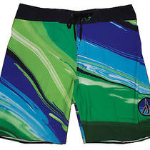 Billabong Mens Paint Trip Boardshorts Trunks Nwt Size 30 Blue Photo