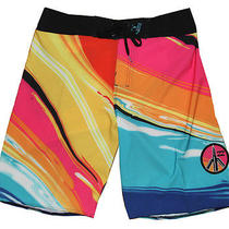 Billabong Mens Paint Trip Boardshorts Trunks Nwt Size 38 Photo