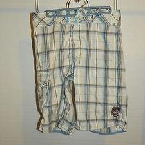 Billabong Mens Plaid Shorts Sz 30 Blue & White Photo