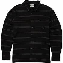 Billabong Mens Shirt Black Gray Size Large L Button Down Knit Stripe 55 178 Photo