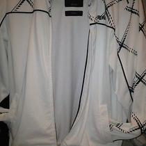 Billabong Mens Sm. Warm Up Jacket White Black heavywt.surf Skate Buckle Rap Euc Photo