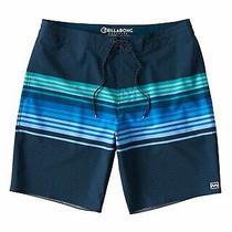 Billabong Mens Swimwear Blue Size 34 Swim Board Shorts Spinner Striped 55 120 Photo