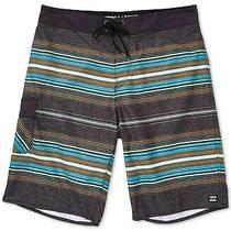 Billabong Mens Swimwear Gray Size 40 Stripe Drawstring Board Shorts 44 461 Photo