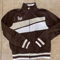 Billabong Mens Vintage Brown Track Jacket Size Small Mint Photo