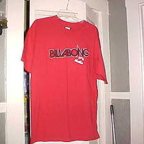 Billabong Nwt Red Cotton Name  on Front Cotton Tee  Size Large Photo