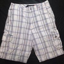 Billabong Plaid Shorts Mens 32w Preowned Nice White Dress Casual Golf Photo