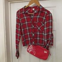 Billabong Red Shoulder Bag and a h&m Red Size 8 Checked Shirt Photo