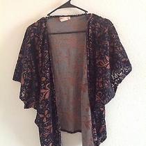 Billabong Rust/black Velvet Burnout Kimono Top Photo