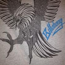 Billabong Screaming Eagle Gray T-Shirt Size Xl Photo