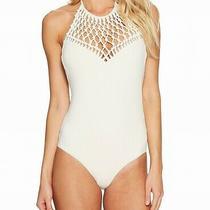 Billabong Seashell Ivory Womens Size Small S Halter One-Piece Swimwear 89 613 Photo