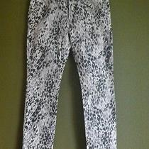 Billabong Skinny Distressed Zebra Trendy Jeans Juniors Size 11 Photo