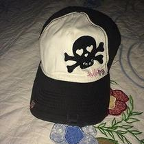 Billabong Skull Crossbones Distressed Hat Cap Adjustable Rhinestones Photo