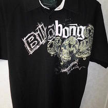 Billabong Slim Medium Black Collar Skull Graphic Photo