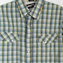 Billabong Snap Down Western Shirt Size Small Slim Fit Blue Plaid Excellent 51 Photo