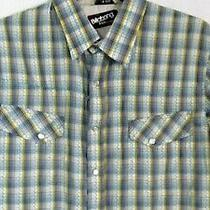 Billabong Snap Down Western Shirt Size Small Slim Fit Blue Plaid Excellent 51 Photo