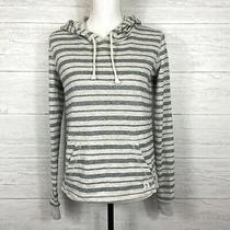 Billabong Striped Hoodie Sweatshirt Size Small Pullover Long Sleeve Gray Photo