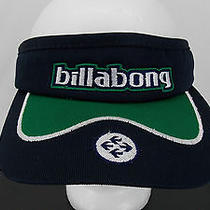 Billabong Surf Beach Terry Lined Visor Navy and Green Rare Unique Super Sweet Photo