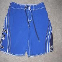 Billabong Surf Hawaiian Surf Board Shorts Men's Size 28 Blue Photo