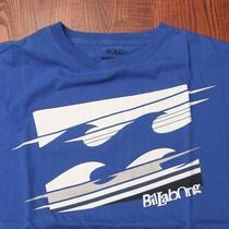 Billabong Surf Skate Surfing Skating Australia Logo Text Large Blue T-Shirt Photo