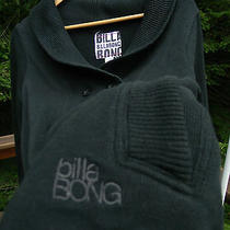 Billabong Surf Surfing Mens L Black Collared Cotton Poly Pullover Sweater Photo