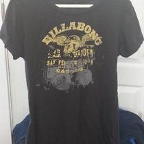 Billabong Surfing Beach Music Drums Logo Gray T-Shirt Small Cap Sleeve Retro Photo