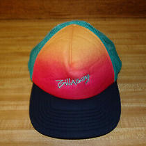 Billabong Surfing Skating Lifestyle Apparel Brand Mens Colorful Teal Trucker Hat Photo