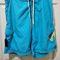 Billabong  Swim Trunks Board Shorts. Blue Yellow Size 34 F2 Photo