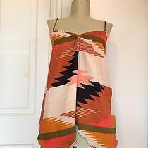Billabong Sz M Designers Closet Handkerchief Hem Navajo Tribal Tank Top Tunic Photo