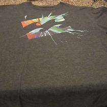 Billabong T-Shirt - Gray - Large - Paint Splash - Organic Cotton Photo