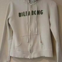 Billabong Teen Juniors Girl's Size M Cream Ivory Green Full Zip Hoodie B44 Photo