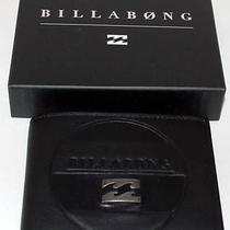 Billabong Wallet New 100% Real Leather Mens Surf Boston Trifold  Black Logo Surf Photo