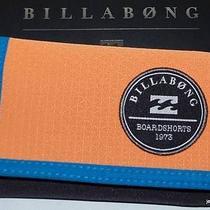 Billabong Wallet New Mens Boys Surf Trek Polyestr Velcro Surf Logo Skate Trifold Photo