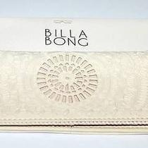 Billabong Wallet Purse Clutch New Gypset Cream Faux Leather Trifold Iphone Surf Photo