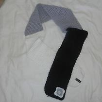 Billabong White Gray and Black Acrylic Scarf One Size Euc Photo