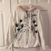 Billabong White Hooded Jacket Sweatshirt Sz M Photo