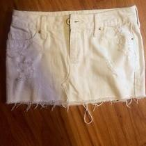 Billabong White Jean Skirt Size 1 Photo