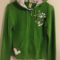 Billabong- Women-Junior- Hoodie Jacket- Zip Front Green--Size M- Rare- Photo