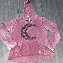 Billabong Women Pullover Hoodie Pink Moon Graphic Womens Size Small  Photo