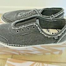 Billabong Women's Black Gray Jetty Elastic Top No Lace Slip on Shoes 9.5 W/box Photo