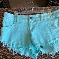 Billabong Women's Light Blue Cutoff Denim Shorts Size 9 Photo