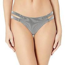Billabong Women's New Tide Isla Bikini Bottom White/black Size Large G4w1 Photo