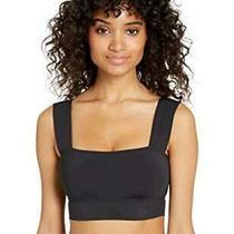Billabong Women's Sunny Rib Square Neck Bikini Top White Large Black Size 12.0 Photo