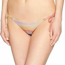 Billabong Women's Swimwear Pink Size Medium M Tie Isla Bikini Bottom 54 137 Photo