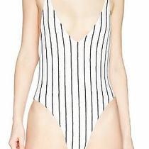 Billabong Women's Swimwear White Size Small S Striped v-Neck One Piece 79 272 Photo