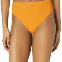 Billabong Women's Swimwear Yellow Size Xl Bikini Bottom Hi-Cut Textured 54 635 Photo