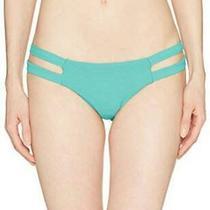 Billabong Women's Tanlines Isla Bikini Bottom Black Pebble Sea Green Size -1.0 Photo
