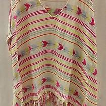 Billabong Womens Calmest Waters Poncho J513acal White Cap Size Medium Photo